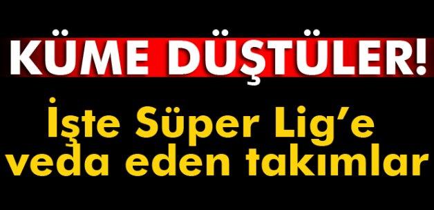Süper Lig'de 2015-2016 Sezonu tamamlandı! İşte bugün küme düşen takımlar