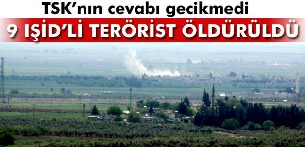 TSK, IŞİD mevzilerini vurdu: 9 terörist öldürüldü