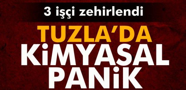 Tuzla'da kimyasal panik: 3 işçi zehirlendi