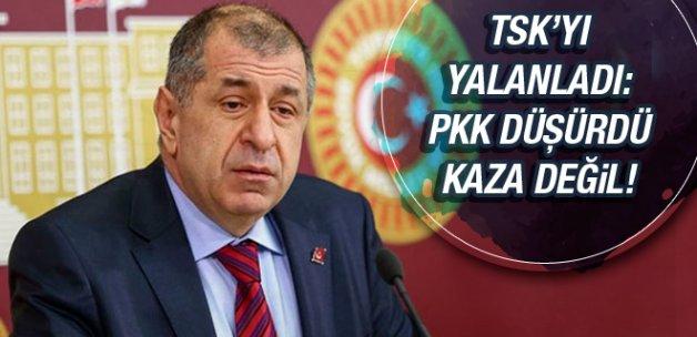 Ümit Özdağ'dan helikopter iddiası: PKK düşürdü!