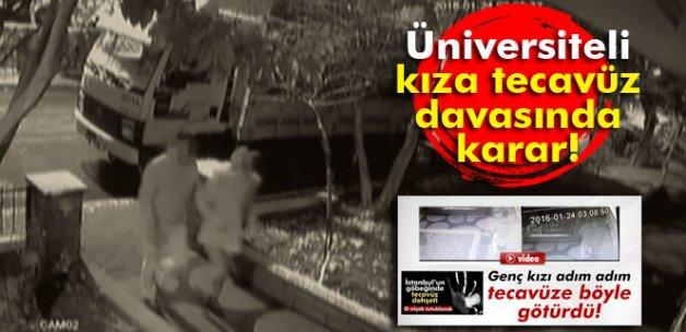 Üniversiteli kıza tecavüz davasında karar