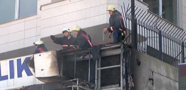 Üsküdar'da balıkçıda yangın