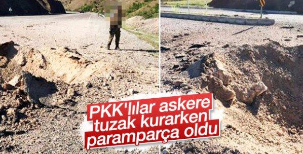 300 kiloluk bomba teröristlerin elinde patladı