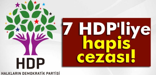 7 HDP'liye hapis cezası!