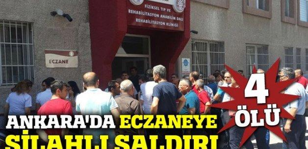 Ankara'da eczaneye silahlı saldırı: 4 ölü (Ankara saldırı, ölü yaralı sayısı)