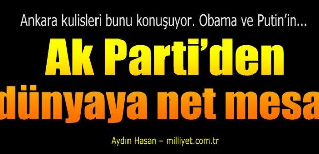 Ankara'dan Obama ve Putin'e net muhatap mesajı