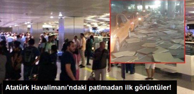Atatürk Havalimanı'nda Yaşanan Patlama Sonrası İlk Görüntüler Geldi