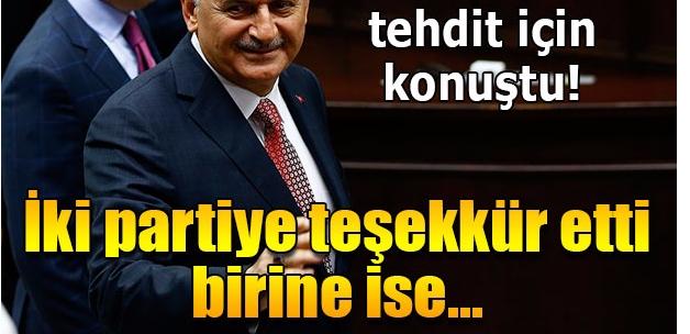 Başbakan Binali Yıldırım, CHP ve MHP'ye teşekkür etti