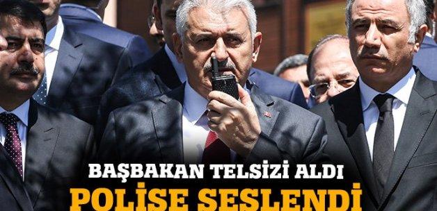 Başbakan Yıldırım, telsizden polislere seslendi