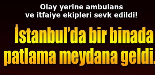 Beyoğlu'nda apartmanda patlama