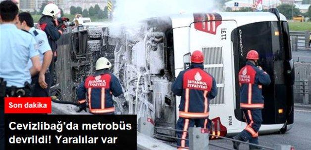 Cevizlibağ'da Metrobüs Devrildi, Yaralılar Var