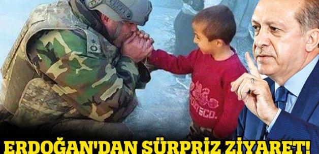 Cumhurbaşkanı Erdoğan'dan Binbaşı Tetik'e ziyaret