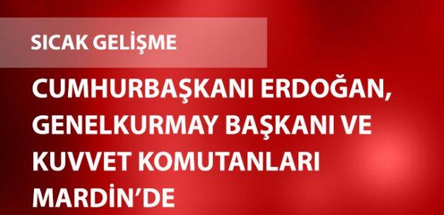 Cumhurbaşkanı Erdoğan, Genelkurmay Başkanı ve Kuvvet Komutanları Mardin'de