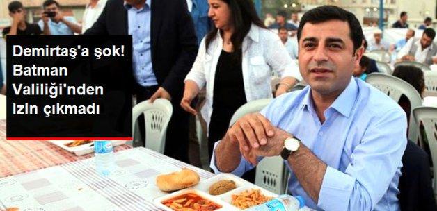 Demirtaş'ın Katılacağı HDP'nin İftar Programına Valilikten İzin Yok