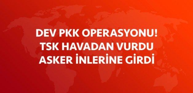 Diyarbakır'da Dev PKK Operasyonu! TSK'dan Havadan Vurdu, Asker Karadan