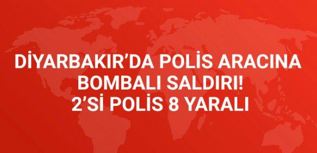 Diyarbakır'da Polis Aracına Bombalı Saldırı! 2'si Polis 8 Yaralı