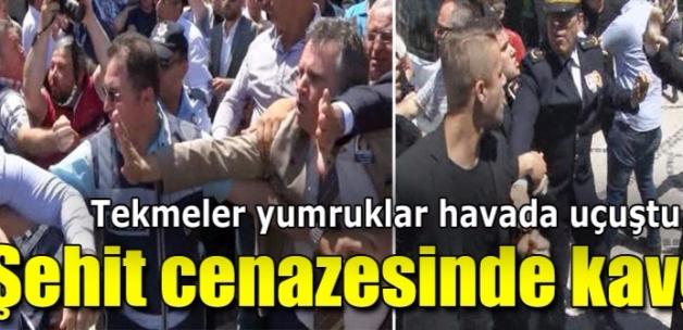 Edirne'de şehit cenazesi sonrası arbede çıktı