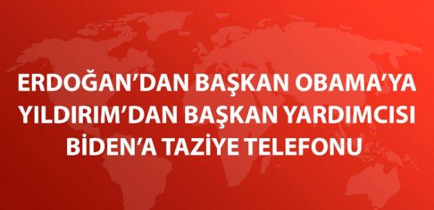 Erdoğan Başkan Obama'yı Yıldırım Başkan Yardımcısı Biden'ı Aradı