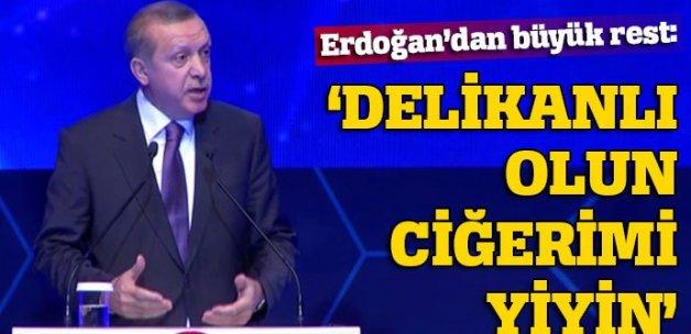 Erdoğan'dan Almanya'ya 'soykırım' resti: 'Delikanlı olun ciğerimi yiyin'