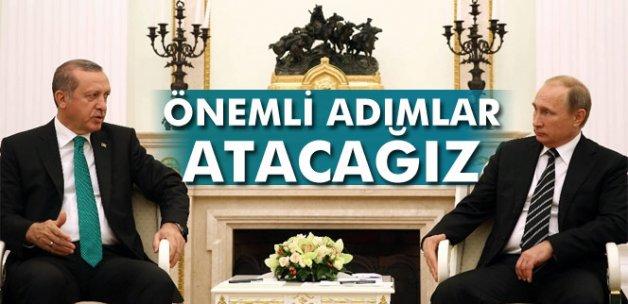 """Erdoğan: """"İkili ve bölgesel konularda önemli adımlar atacağız"""""""