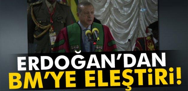 Erdoğan'dan BM'ye eleştiri!