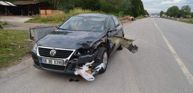 Feci şekilde can verdi: Pidesi aracın tamponunda kaldı