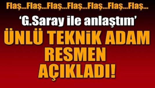 Galatasaray ile anlaştım'