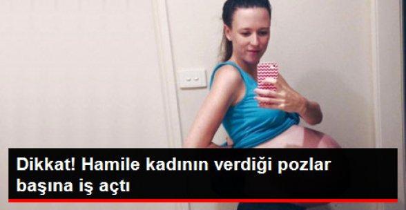 Hamile Kadının Verdiği Poz +18'lik Siteye Düştü