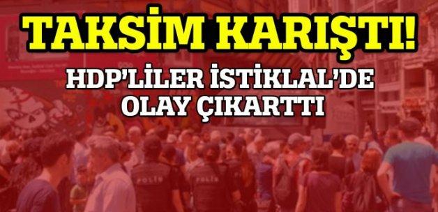 HDP İstiklal'de olay çıkarttı, polis müdahale etti