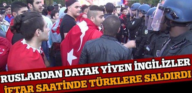 İngiliz holiganlar Türk taraftarlara saldırdı