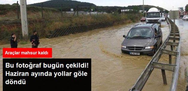 İstanbul Sular Altında! Araçlar Mahsur Kaldı, Sürücüler Zor Anlar Yaşadı