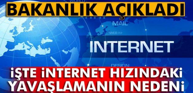 İşte internet hızındaki yavaşlamanın nedeni