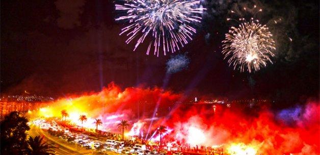 İzmir alev alev yandı