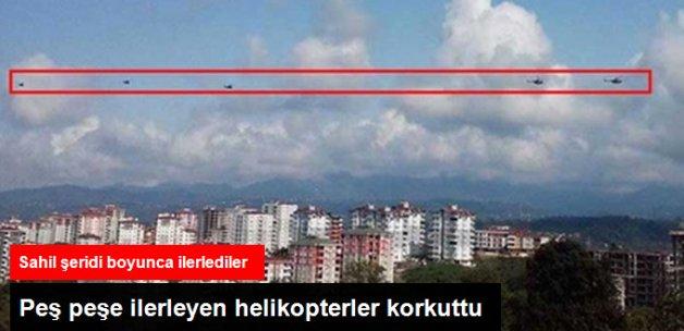 Karadeniz Sahilinde Peş Peşe Uçan Azeri Helikopterleri Paniğe Yol Açtı