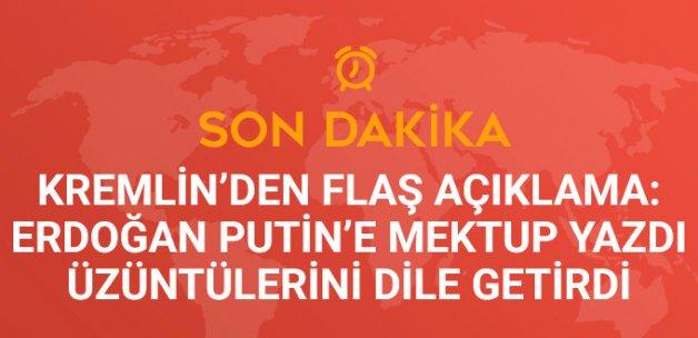 Kremlin: Erdoğan Putin'e Mektup Yazdı, Üzüntülerini Dile Getirdi