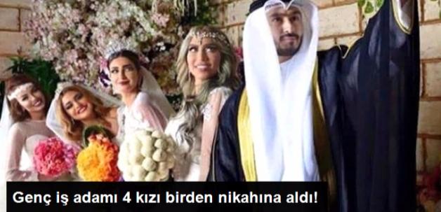 Kuveytli Genç İş Adamı 4 Genç Kızla Birden Evlendi