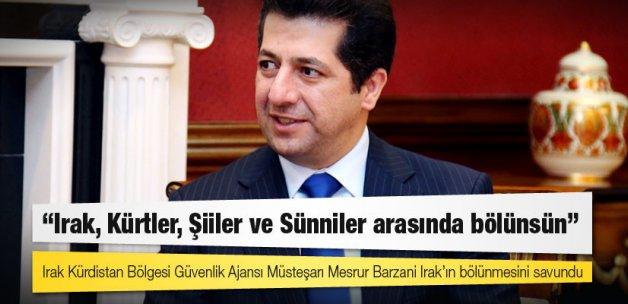 Mesrur Barzani: Irak, Kürtler, Şiiler ve Sünniler arasında bölünsün