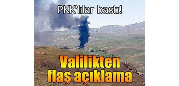 PKK'lılar araçları yaktı, 25 kişi karakollara alındı