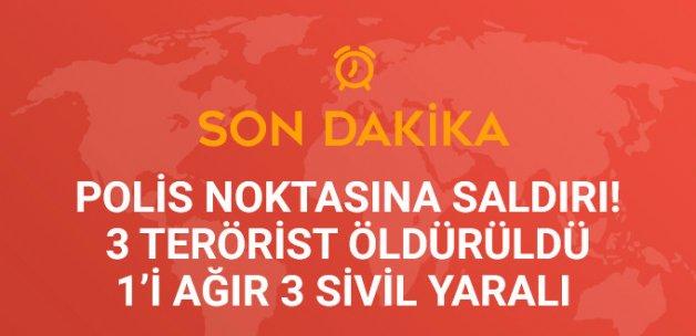 Polis Ekibine Saldıran 3 Terörist Öldürüldü, 1'i Ağır 3 Sivil Yaralı