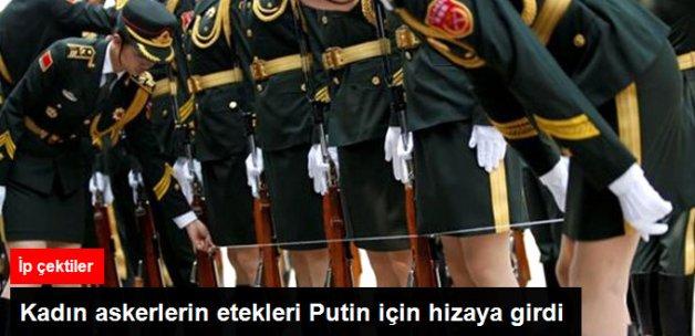 Putin'i Karşılayan Çinli Kadın Askerler İple Etek Boylarını Hizaladı