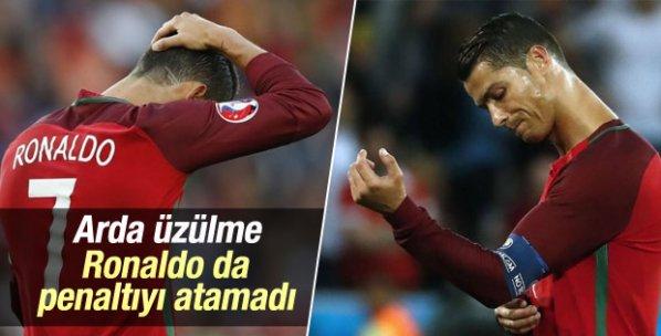 Ronaldo penaltı kaçırdı Portekiz kazanamadı