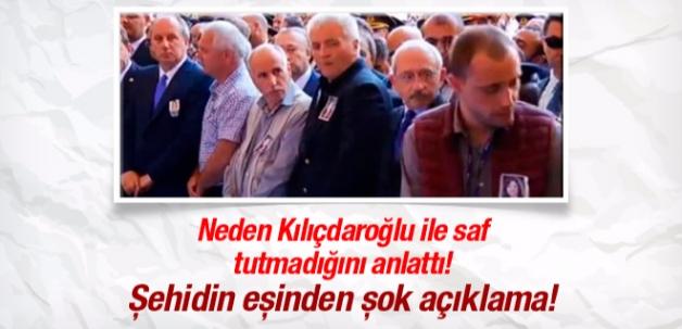 Şehidin eşi Kılıçdaroğlu'nun yanında neden saf tutmadı?