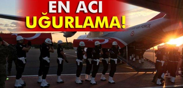 Şehit polislerin cenazeleri memleketlerine uğurlandı