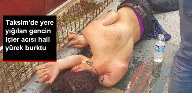Taksim'de Aşırı Alkolden Yığılıp Kalan Gence Vatandaşlar Yardım etti