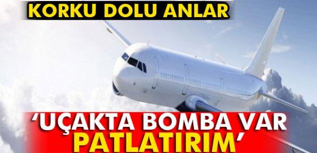 THY uçağında bomba paniği