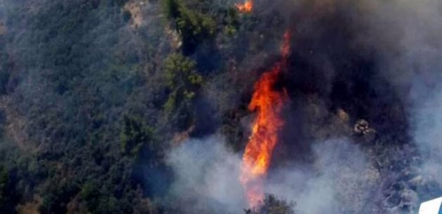 Turizm cennetinde yangın: Evler tehdit altında!