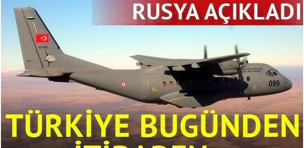 Türkiye, Rusya'yı havadan denetleyecek