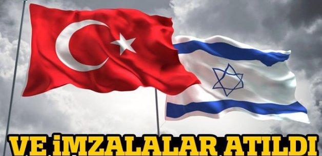 Türkiye-İsrail arasındaki mutabakat metni imzalandı
