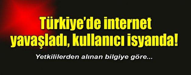 Türkiye`de internet yavaşladı, kullanıcı isyanda!