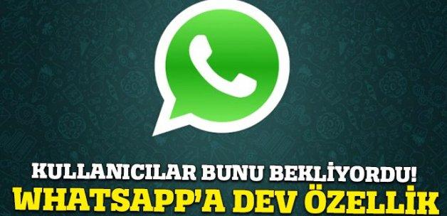 WhatsApp'a dev özellik geliyor